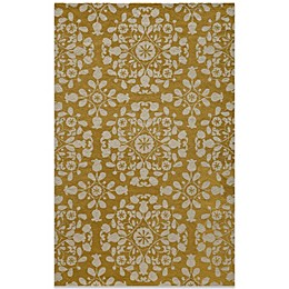 Momeni Suzani Hook Rug in Gold