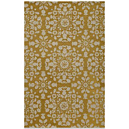 Momeni Suzani 3-Foot 6-Inch x 5-Foot 6-Inch Hook Rug in Gold