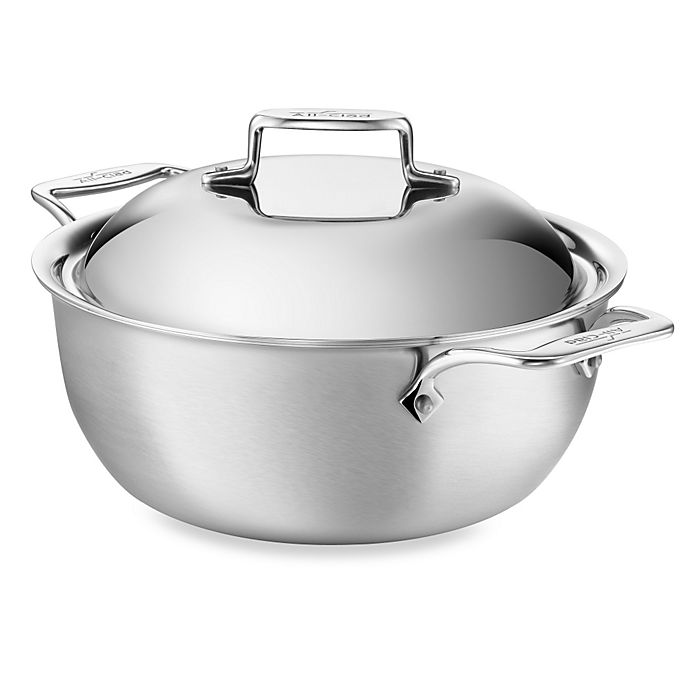 Alternate image 1 for All-Clad d5® Brushed Stainless Steel 5.5 qt. Covered Dutch Oven