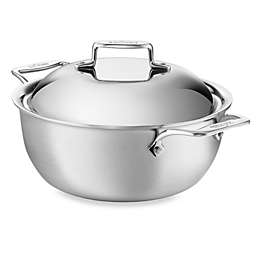 All-Clad d5® Brushed 5.5 qt. Stainless Steel 2 piece Covered Dutch Oven
