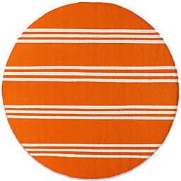Momeni Veranda 9-Foot Round Rug in Tangerine