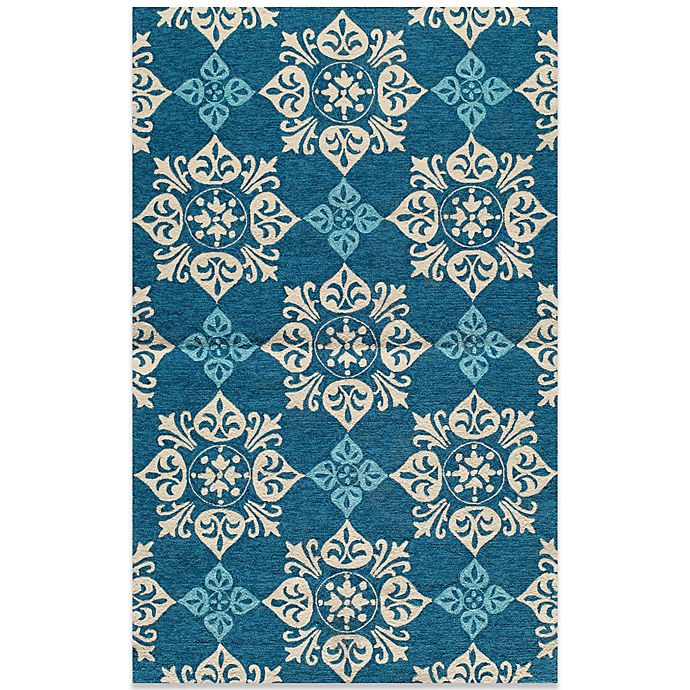 Alternate image 1 for Momeni Veranda  Indoor/Outdoor Rug in Blue
