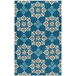 Momeni Veranda  Indoor/Outdoor Rug in Blue