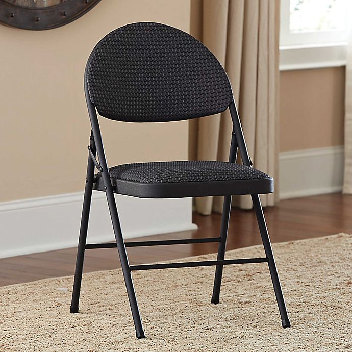 Alternate image 1 for Cosco Oversized Comfort Folding Chair in Black Patterned Fabric