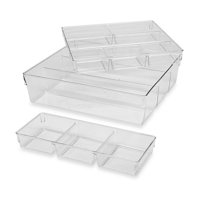 Alternate image 1 for 3-Piece Clear Organizer Set