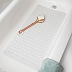SlipX® Microban® 36-Inch x 18-Inch Extra Long Rubber Bath Safety Mat in White