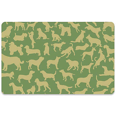 Bungalow Flooring 18-Inch x 27-Inch Dogs at Play Kitchen Mat