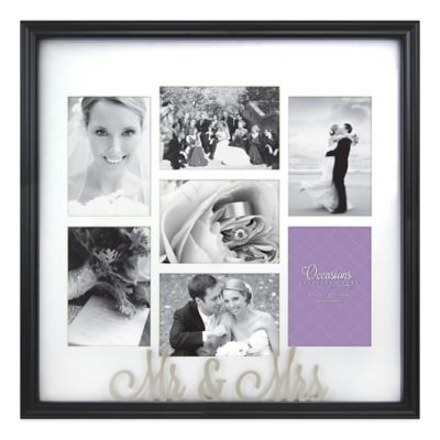 Occasions Mr. and Mrs. 7-Photo Wedding Collage Frame | Bed Bath & Beyond