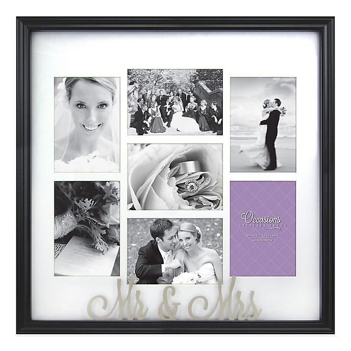 Occasions Mr And Mrs 7 Photo Wedding Collage Frame