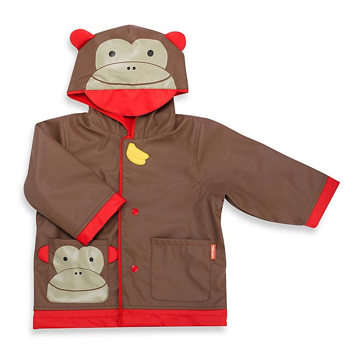 Alternate image 1 for SKIP*HOP® Zoo Monkey Raincoat in Brown