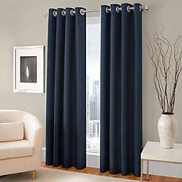 Majestic Room Darkening Lined Grommet Window Curtain Panel
