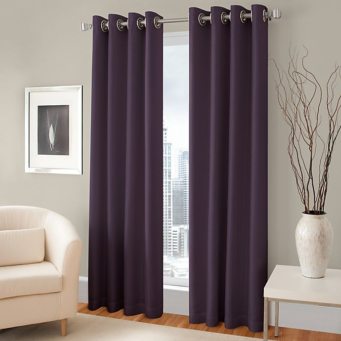 Alternate image 1 for Majestic Room Darkening Lined Grommet Window Curtain Panel