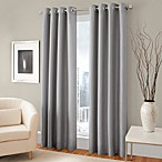 Majestic Steel 84-Inch Room Darkening Lined Grommet Window Curtain Panel in Steel