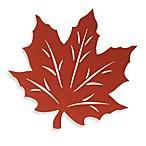 Felt Leaf Placemat in Rust