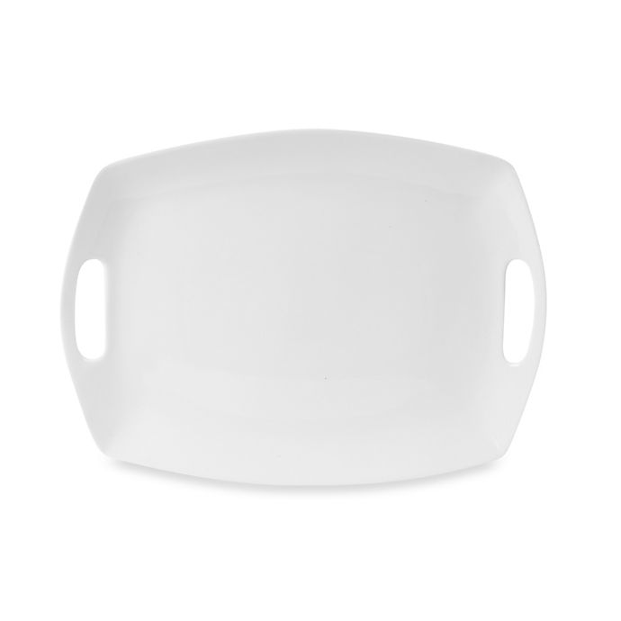 Alternate image 1 for Everyday White® by Fitz and Floyd® 14-Inch Handled Platter
