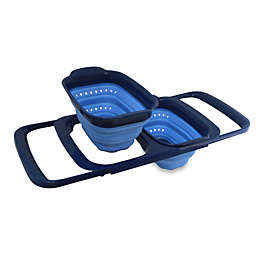 squish® Collapsible Double Over the Sink Colander