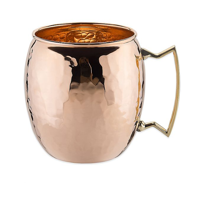 Alternate image 1 for Old Dutch International 16 oz. Moscow Mule Mug with Hammered Finish in Solid Copper