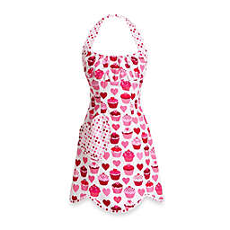 Carolyn's Kitchen Heart Cupcake Retro Apron