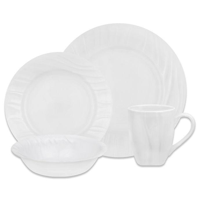 Alternate image 1 for Corelle® Boutique Swept 16-Piece Dinnerware Set in White