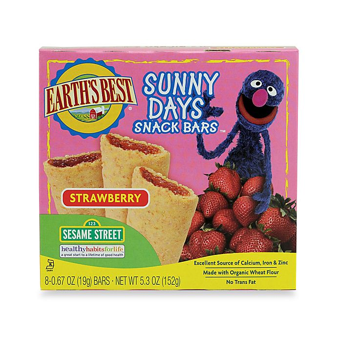 Alternate image 1 for Earth's Best® 8-Pack Organic Sunny Days Strawberry Snack Bars®