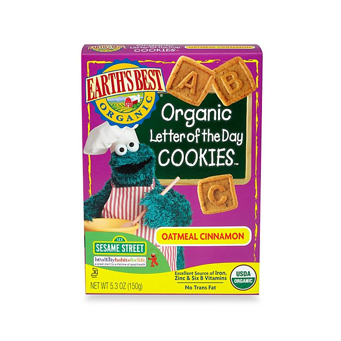 Alternate image 1 for Earth's Best® Organic 5.3 oz. Sesame Street Letter of the Day Oatmeal Cinnamon Cookies