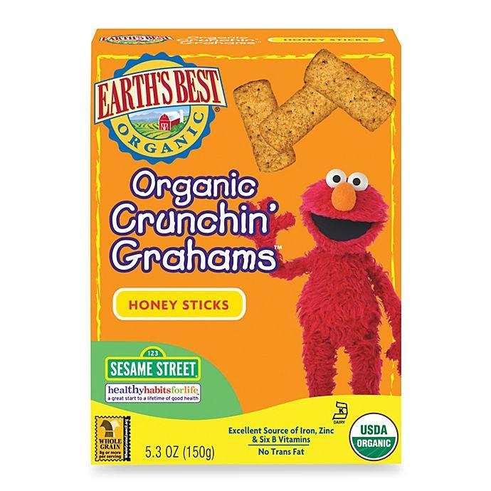 Alternate image 1 for Earth's Best® Organic 5.3 oz. Sesame Street Crunchin' Grahams Honey Sticks
