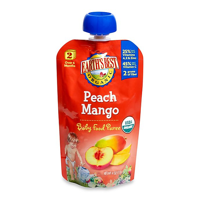 Alternate image 1 for Earth's Best® Organic 4 oz. Peach Mango Baby Food Puree