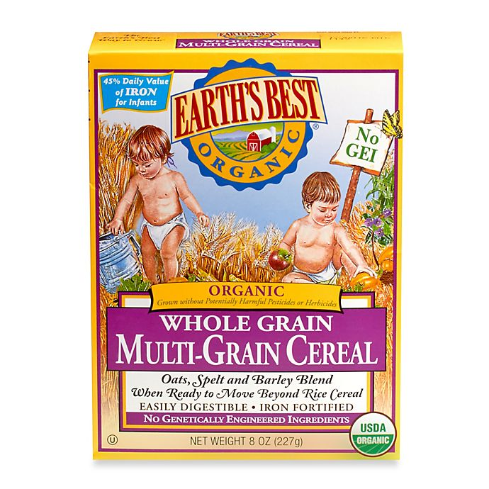 Alternate image 1 for Earth's Best® Organic 8 oz. Whole Grain Multi-Grain Cereal