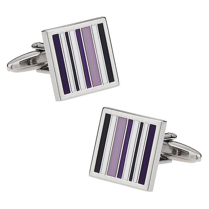 Alternate image 1 for Cuff-Daddy Purple Lined Cufflinks