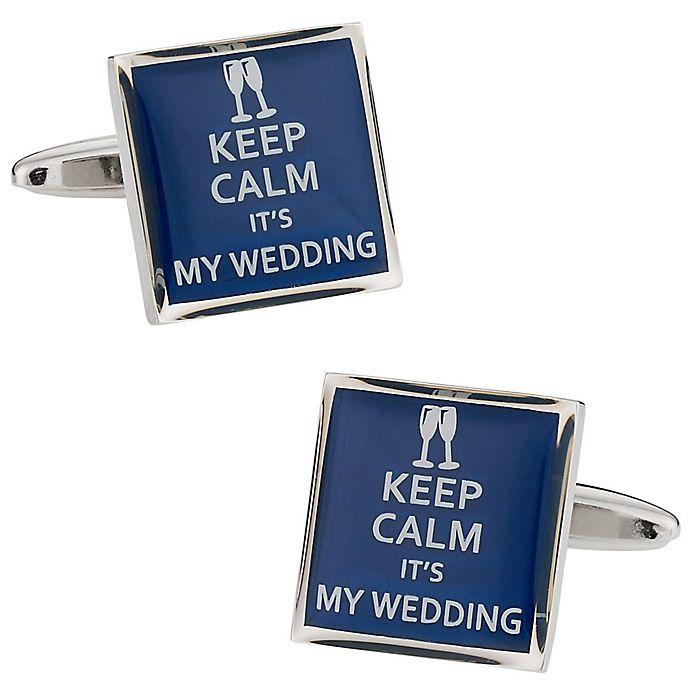 Alternate image 1 for Cuff-Daddy Keep Calm Wedding Cufflinks