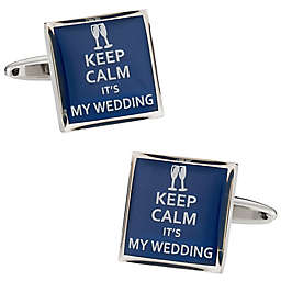 Cuff-Daddy Keep Calm Wedding Cufflinks