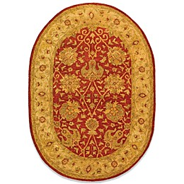 "Safavieh Antiquities Rust Wool 4' 6"" x 6' 6""' Oval Rug"