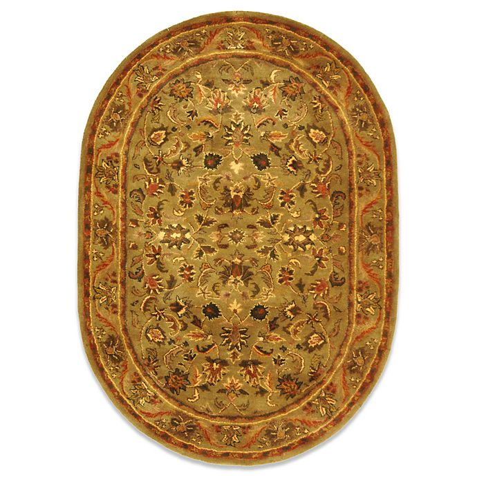 Alternate image 1 for Safavieh Antiquities 4-Foot 6-Inch x 6-Foot 6-Inch Oval Wool Rug in Gold