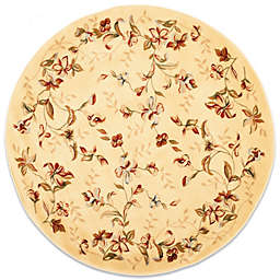 Safavieh Lyndhurst 8-Foot Round Romantic Rug in Ivory