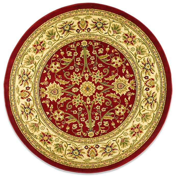 Alternate image 1 for Safavieh Lyndhurst Collection 5-Foot 3-Inch Round Rug in Red and Ivory