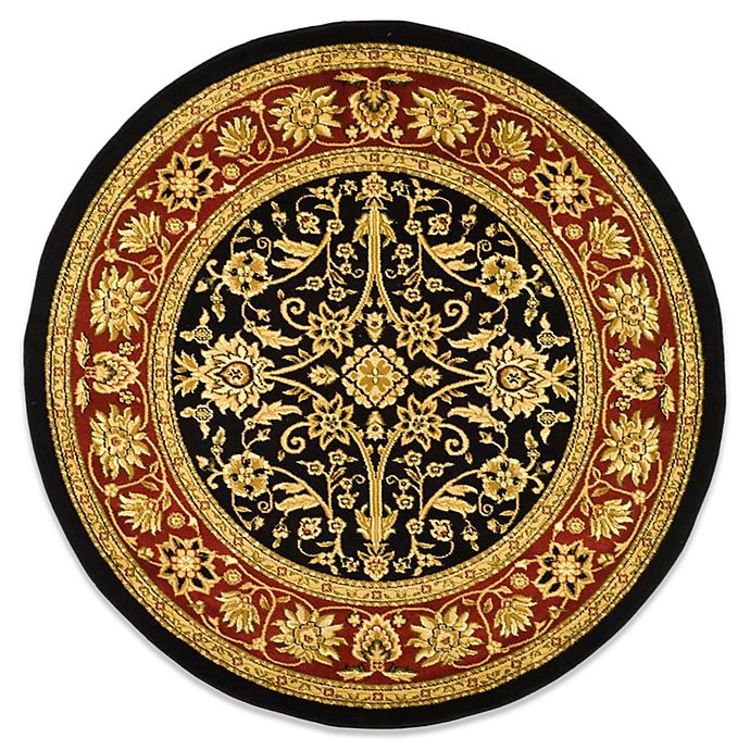 Alternate image 1 for Safavieh Lyndhurst Collection 5-Foot 3-Inch Round Rug in Black and Red