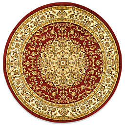 Safavieh Lyndhurst Medallion 8' Round Area Rug in Red/Ivory