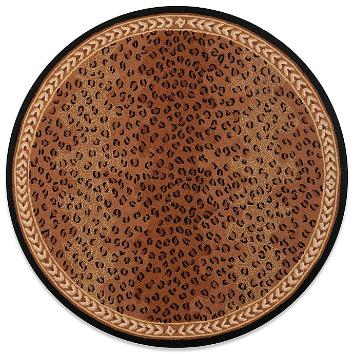 Alternate image 1 for Safavieh Chelsea Wool 5-Foot 6-Inch Round Rug in Black and Brown