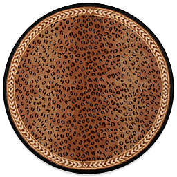 Safavieh Chelsea Wool 8-Foot Round Rug in Black and Brown