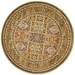 Safavieh Lyndhurst Collection 8-Foot Round Patchwork Rug in Green