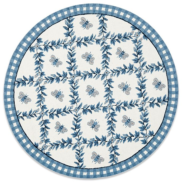 Alternate image 1 for Safavieh Chelsea Collection 4-Foot Wool Round Rug in Light Blue