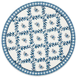 Safavieh Chelsea Collection 8-Foot Wool Round Rug in Light Blue