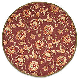 Safavieh EZ Care Maroon and Green 8-Foot Round Room Size Rug