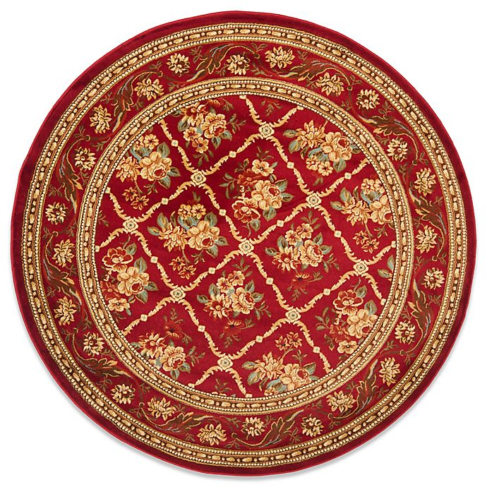Alternate image 1 for Safavieh Lyndhurst Collection Courtland 5-Foot 3-Inch Round Rug in Red