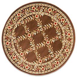Safavieh Lyndhurst Collection Feodore 5-Foot 3-Inch Round Rug in Brown