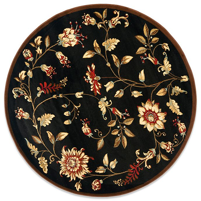 Alternate image 1 for Safavieh Tobin Black/Multi 5-Foot 3-Inch Round Rug
