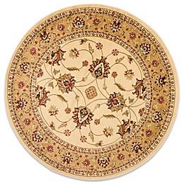 Safavieh Vanity 5-Foot 3-Inch Round Rug in Ivory/Beige