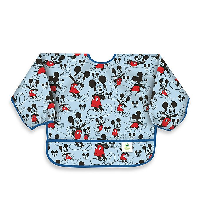 Alternate image 1 for Disney Baby Mickey Mouse Classic Waterproof Long Sleeved Bib from Bumkins®