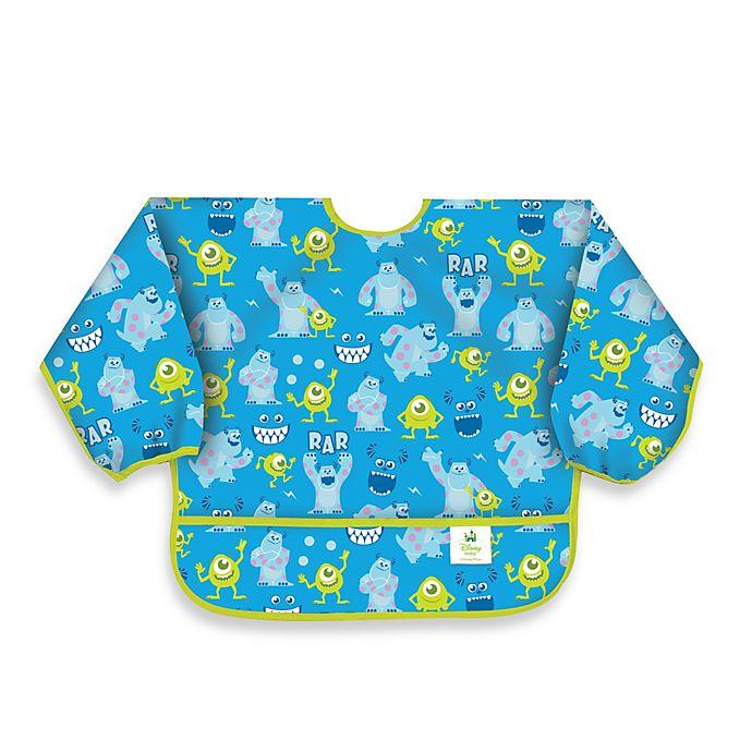 Disney Baby Monsters Inc Blue Waterproof Long Sleeved Bib From Bumkins Buybuy Baby