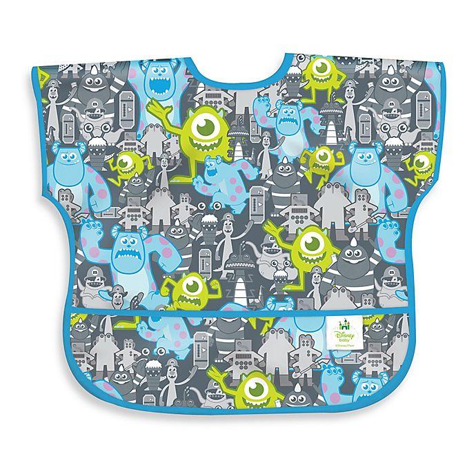 Disney Baby Monsters Inc Grey Waterproof Sleeved Junior Bib From Bumkins Buybuy Baby